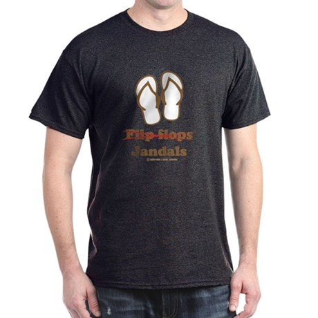 Jandal (Brown and White) Dark T-Shirt