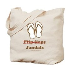 Jandal (Brown and White) Tote Bag