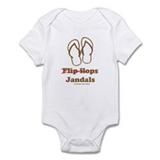 Jandal (Brown and White) Infant Bodysuit