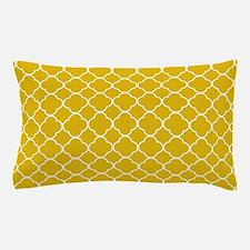 Mustard Yellow Clover Pattern Pillow Case