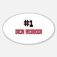 Number 1 IRON WORKER Oval Decal