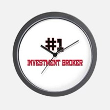 Number 1 INVESTMENT BROKER Wall Clock