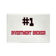 Number 1 INVESTMENT BROKER Rectangle Magnet