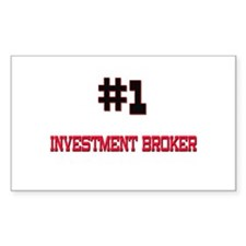 Number 1 INVESTMENT BROKER Rectangle Decal