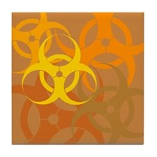 Brown Biohazard Tile Coaster