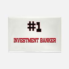 Number 1 INVESTMENT BANKER Rectangle Magnet