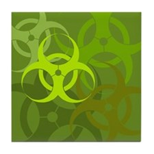 Green Biohazard Tile Coaster