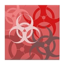 Red Biohazard Tile Coaster