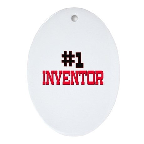 Number 1 INVENTOR Oval Ornament