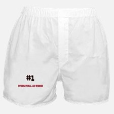 Number 1 INTERNATIONAL AID WORKER Boxer Shorts