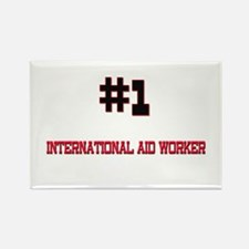 Number 1 INTERNATIONAL AID WORKER Rectangle Magnet