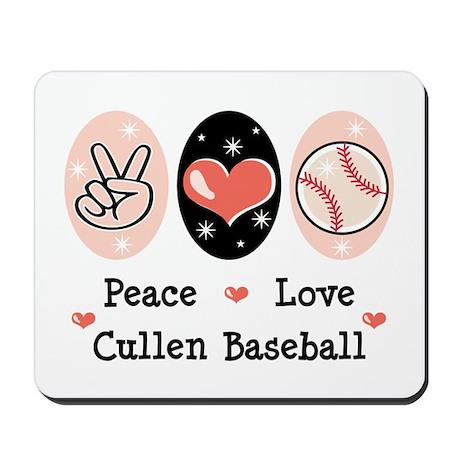 Peace Love Cullen Baseball Mousepad