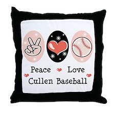 Peace Love Cullen Baseball Throw Pillow
