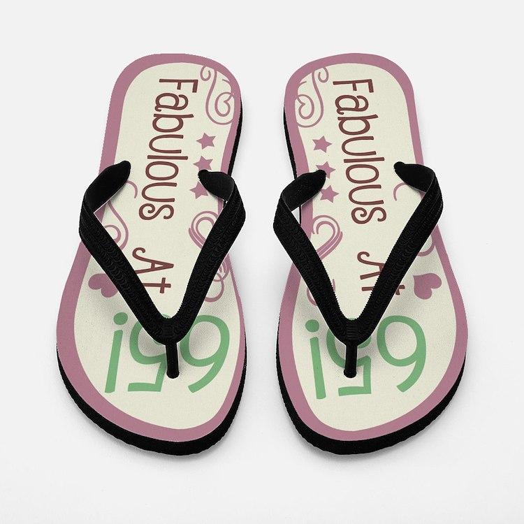 Fabulous 65th Birthday Flip Flops