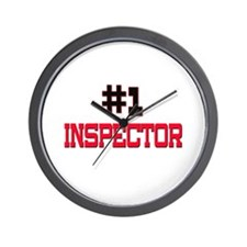 Number 1 INSPECTOR Wall Clock