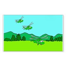 3 UH-60s Landing Rectangle Decal