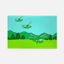 3 UH-60s Landing Rectangle Magnet
