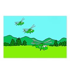 3 UH-60s Landing Postcards (Package of 8)