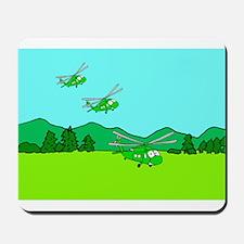 3 UH-60s Landing Mousepad