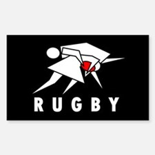 Tackle Rugby Bumper Decal