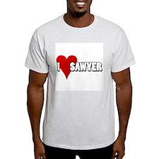 I Heart (Love) Sawyer Ash Grey T-Shirt