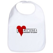 I Heart (Love) Sawyer Bib