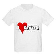 I Heart (Love) Sawyer Kids T-Shirt