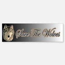 Save The Wolves Bumper Bumper Bumper Sticker