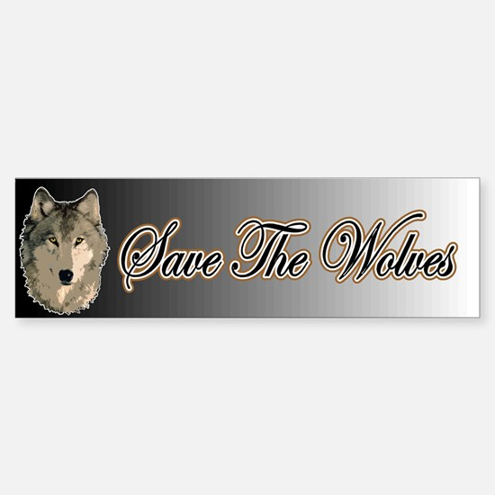 Save The Wolves Bumper Bumper Bumper Sticker