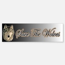 Save The Wolves Bumper Car Car Sticker