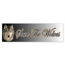 Save The Wolves Bumper Car Sticker