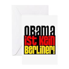 Obama Ist Kein Berliner Greeting Card