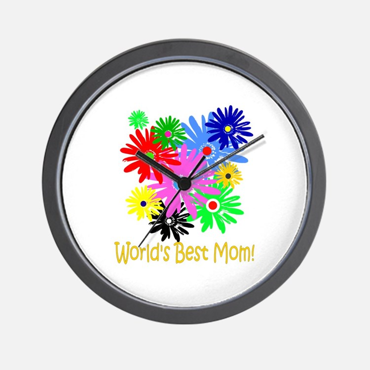 World's Best Mom Wall Clock