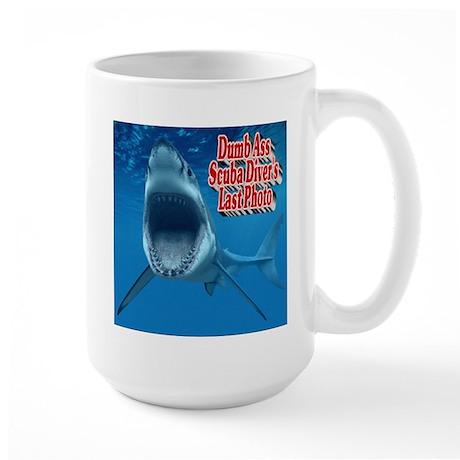 Dumb Ass Scuba Diver's Last Photo Large Mug