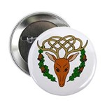 Celtic Stag Button