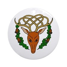 Celtic Stag Ornament (Round)