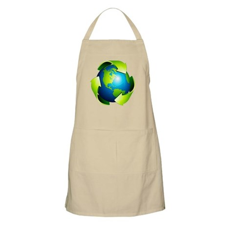 Recycle Blue Planet Symbol Apron