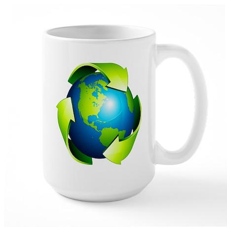 Recycle Blue Planet Symbol Large Mug