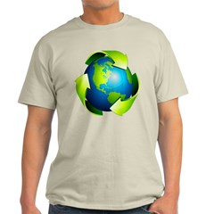 Recycle Blue Planet Symbol T-Shirt