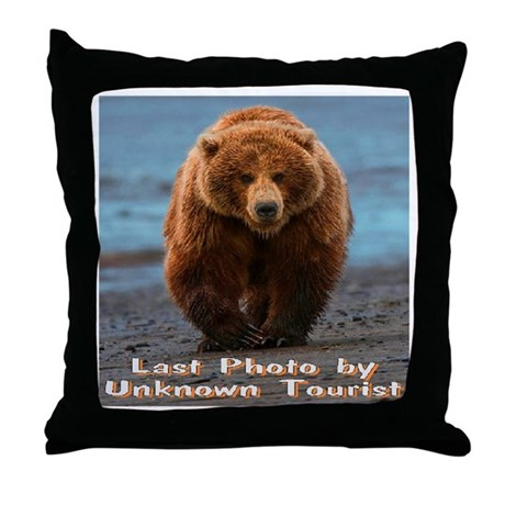 Last Photo by Unknown Tourist Throw Pillow