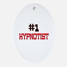 Number 1 HYPNOTIST Oval Ornament