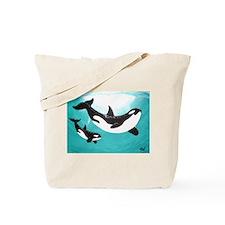 Orca Mom & Calf Tote Bag