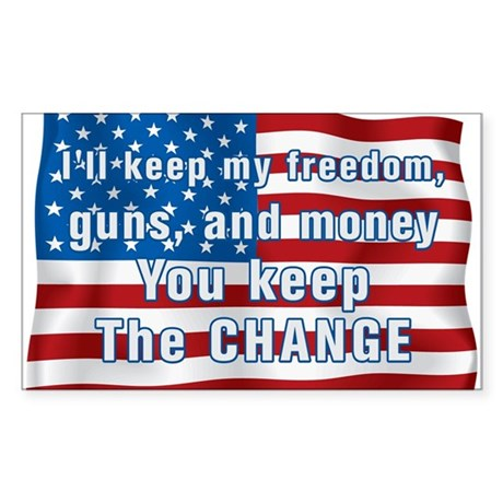 Keep The Change Rectangle Sticker