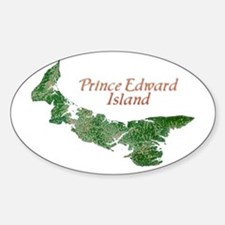 Prince Edward Island Oval Decal