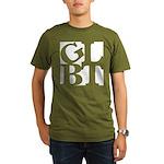 GLBT White Pop Organic Men's T-Shirt (dark)