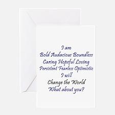 I Am Bold Greeting Card
