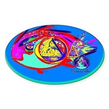 RECOVERY FISH Oval Decal