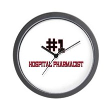 Number 1 HOSPITAL PHARMACIST Wall Clock