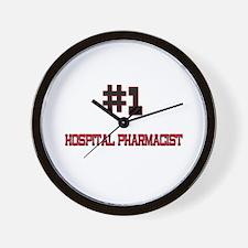 Number 1 HOSPITAL PHARMACIST Wall Clock