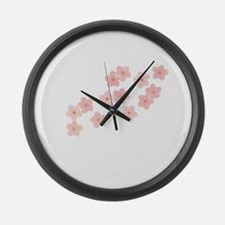 Cherry Blossom Large Wall Clock